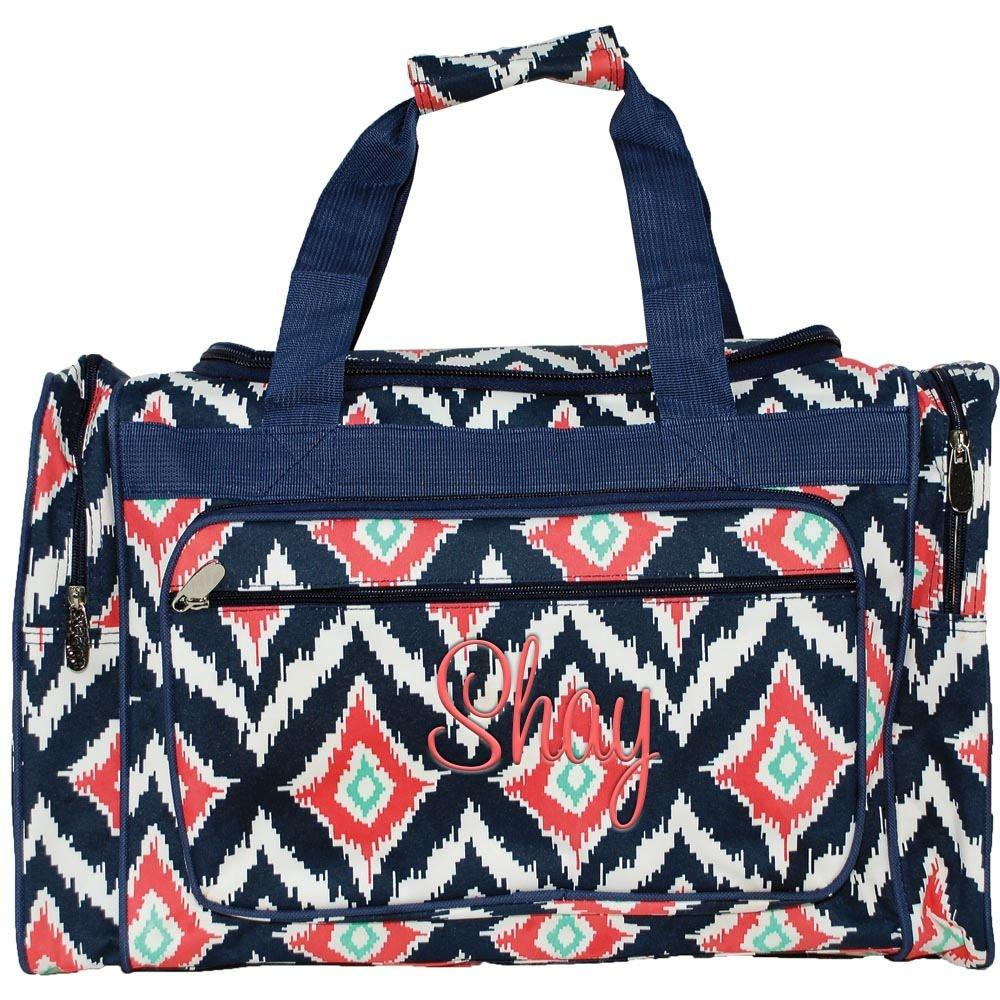 Personalized this Ikat Duffle Bag 20""