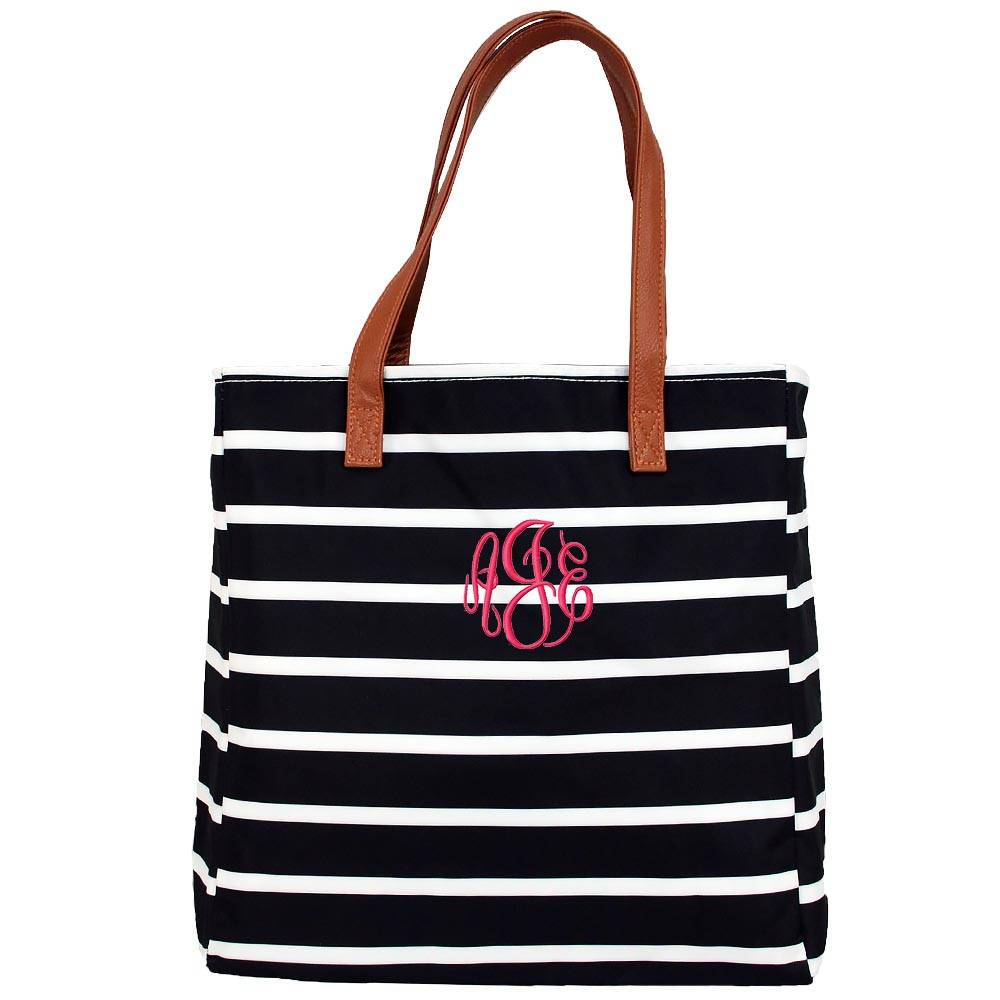 Striped Tote Bag office  college travel