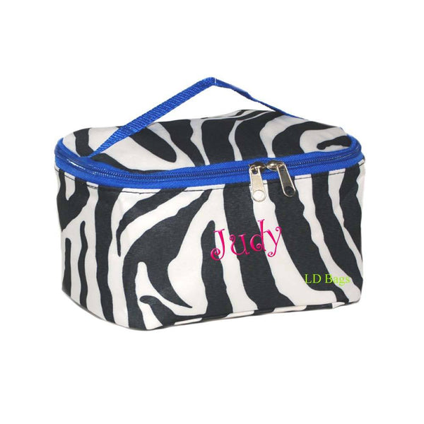 zebra print cosmetic case
