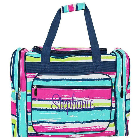 Personalized this Beach Stripe Duffle Bag 20""