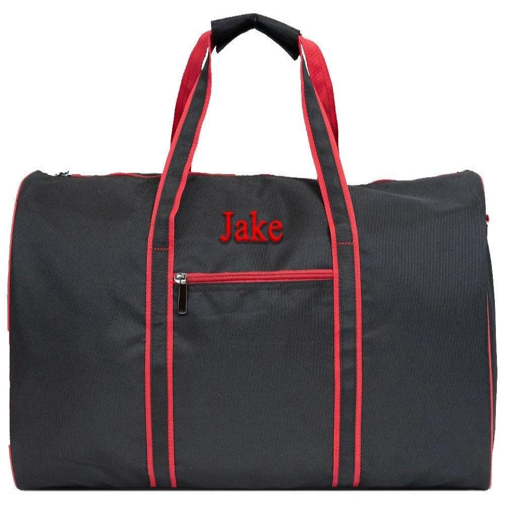 Mens  Duffle Travel Bag Personalized Travel Duffle Overnight Duffle Bag Men's Travel Bag Sports Duffle Bag School Duffle Red Duffle Bag