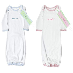Personalized these Seersucker Infant Gown, perfect to give as a gift.