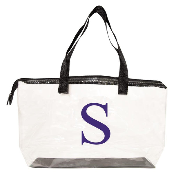 personalized clear tote bag 9x16x4