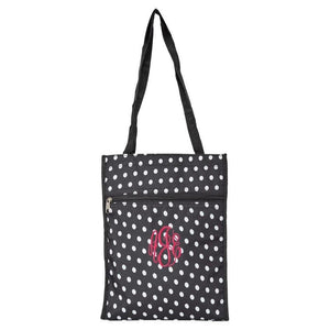 Personalized this Black and White Polka Dot Tote Bag