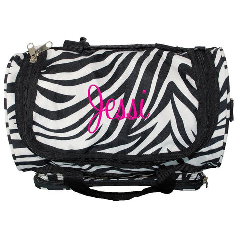 Personalized this Zebra Duffle Bag 13""