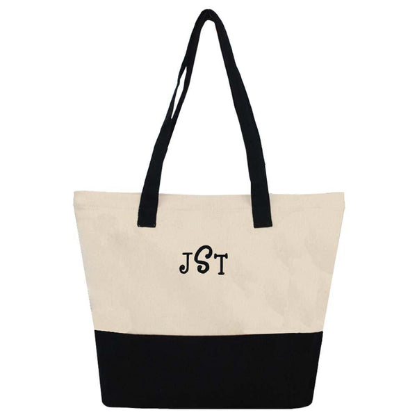 black shoulder tote bag