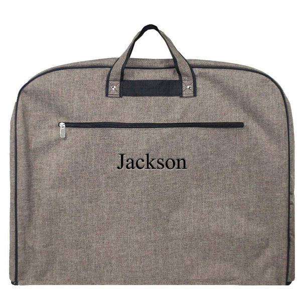 Personalized Khaki Garment Bag for Men