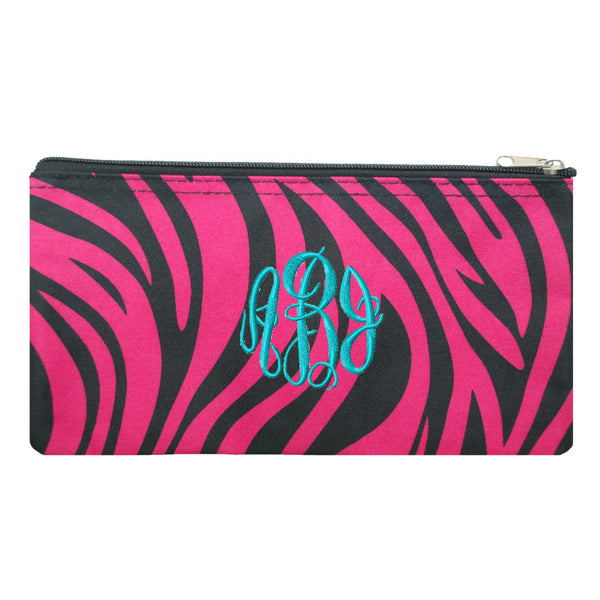 pink zebra cosmetic case