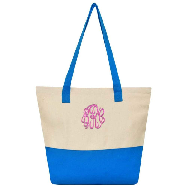 blue shoulder tote bag
