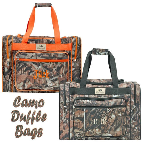 Personalized these camouflage print duffle bag, this is the ideal travel companion for anyone on the go!