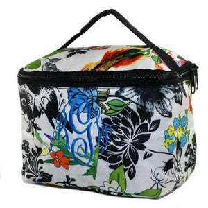 Travel in style with this colorful floral print cosmetic bag. Also great for everyday storage or as a personalized gift!