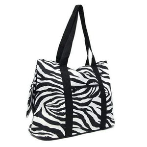Personalized this Zebra Tote Bag, large enough for all your needs.