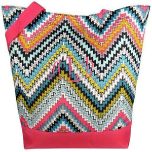 Personalized this Chevron ZigZag Tote Bag