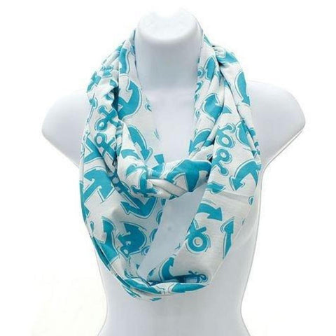 Personalized this Aqua Anchor Infinity Scarf