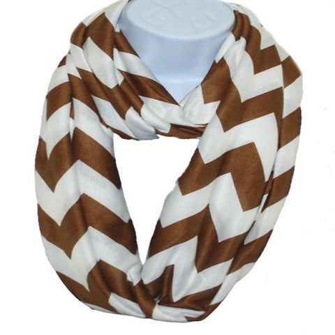 Personalized this Brown Chevron Infinity Scarf