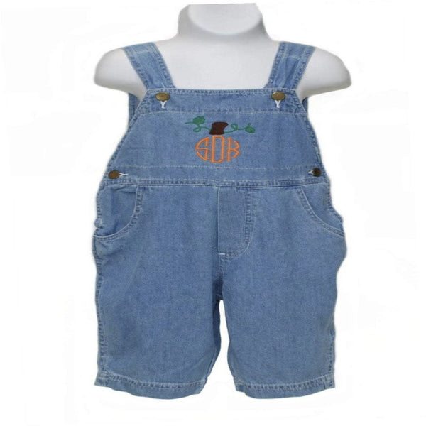 Personalized this shorts overall for toddler that comes in size 4T.