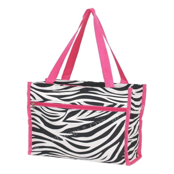 Personalize this Black and White Zebra print, handy tote can go anywhere.