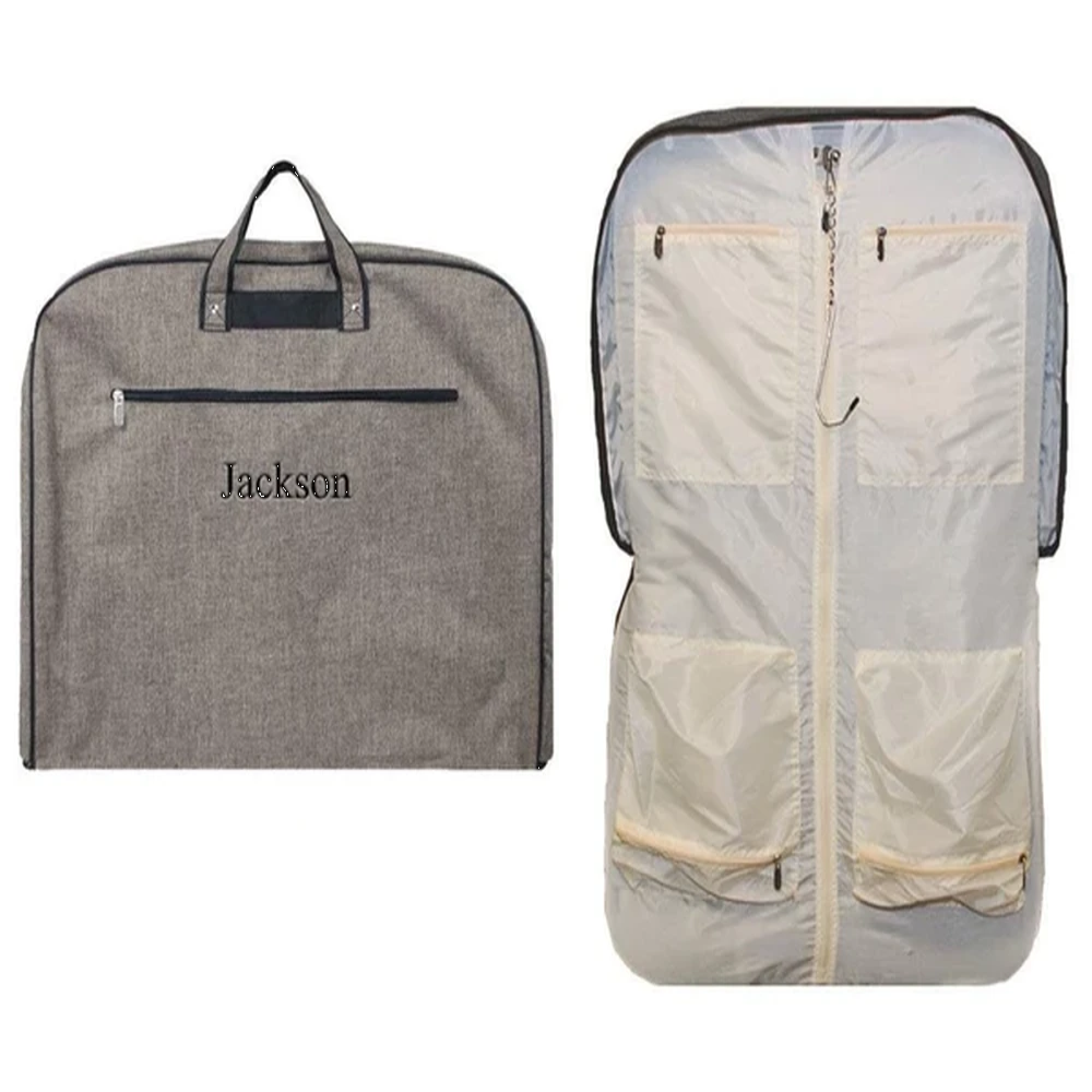 Personalized this Khaki Garment Bag for your man, can be used as a gift as well.