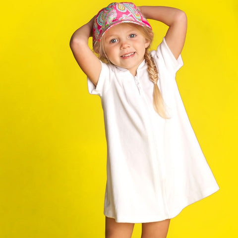 pink paisley, pink hat, hat for kids