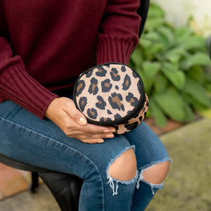 brown leopard jewelry case
