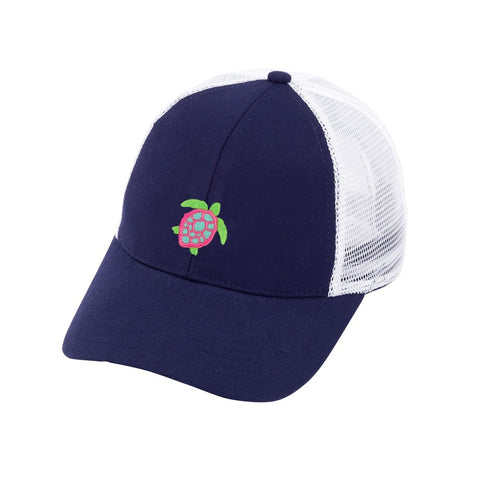Navy Turtle Trucker Hat