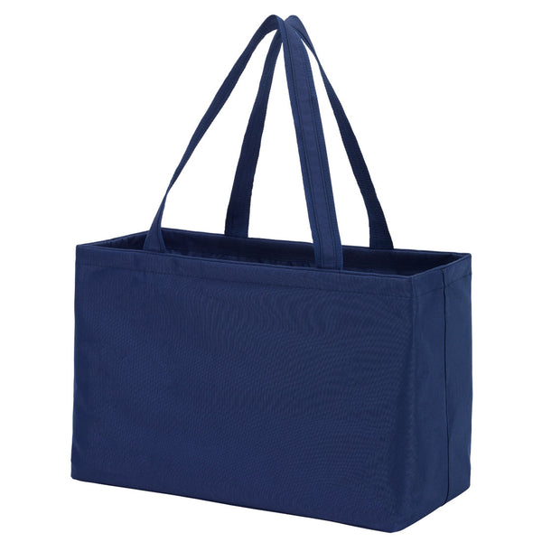 large tote, navy tote