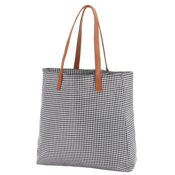 houndstooth shoulder bag for women