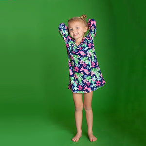 kids tunic, feathered dress