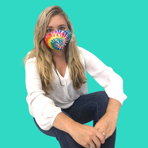 tie dye mask, tie dye adult face cover