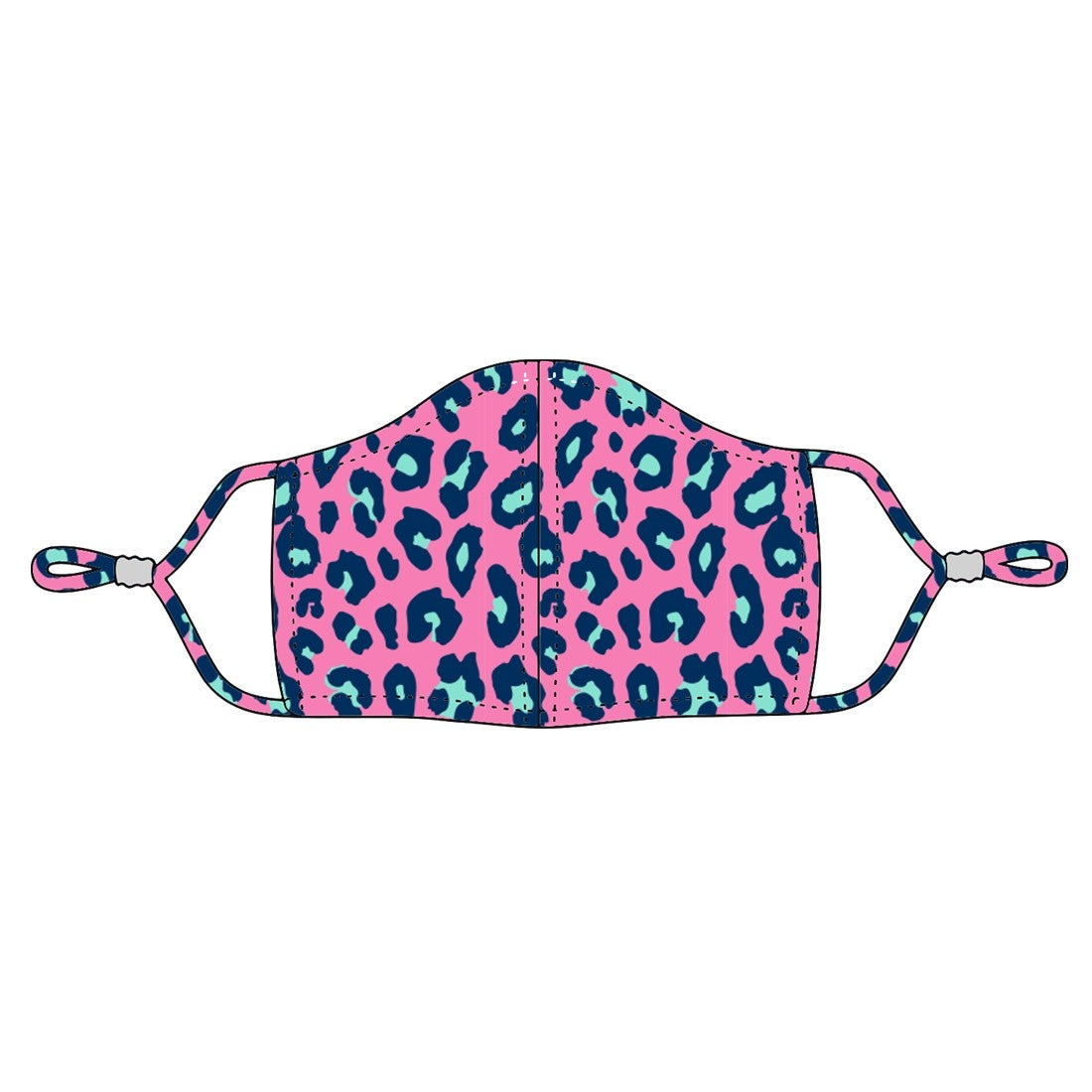 hot pink mask, leopard mask, kids face cover, kids mask