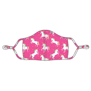 Unicorn Wishes Adjustable Kids Face Cover