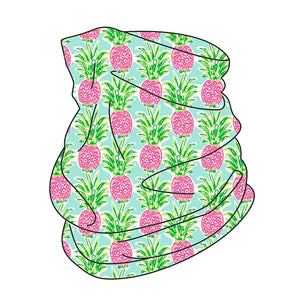 pineapple, neck gaiter, face cover, face mask
