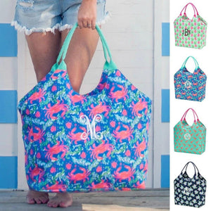 Personalized this lovely oversized beach bag, choose from the design you want.