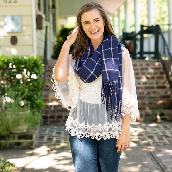 Plaid Adalaine Scarf