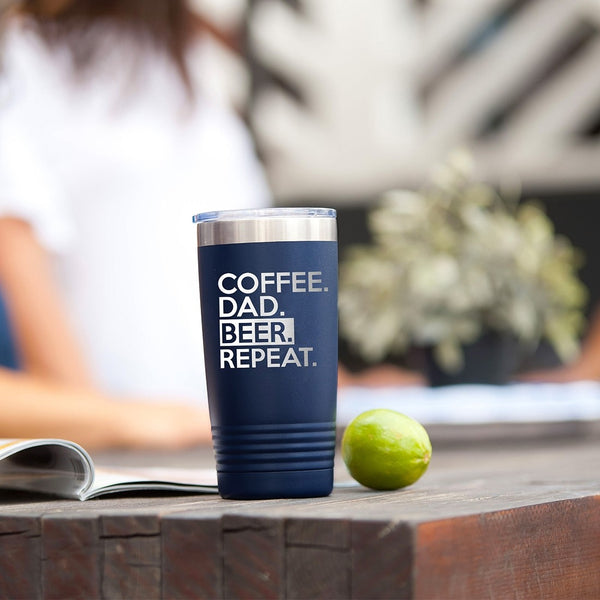 Navy Coffee Dad Tumbler