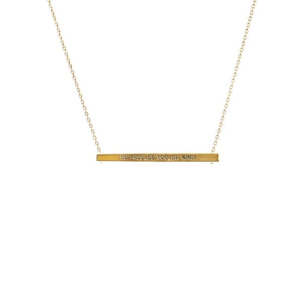 Gold Bar Necklace Card