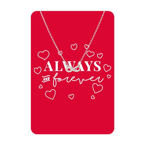 Silver Always and Forever Necklace Card