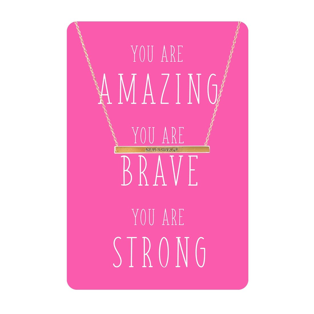 Pink Amazing Necklace Card