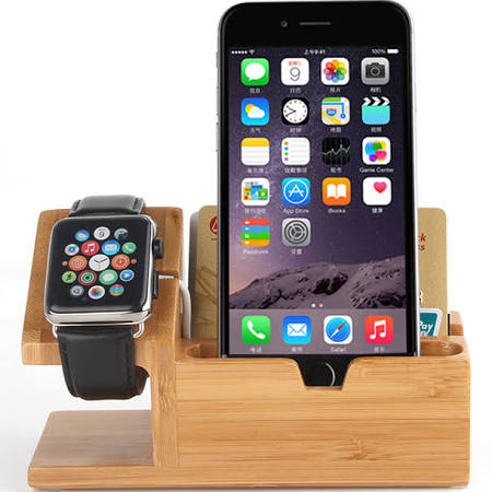 Station d'accueil 2 ou 3 en 1 compatible IPhone 5,6 et 7, Apple Watch 1 et 2 et IPad 2 3 et 4 - Branchement - Compatible Apple