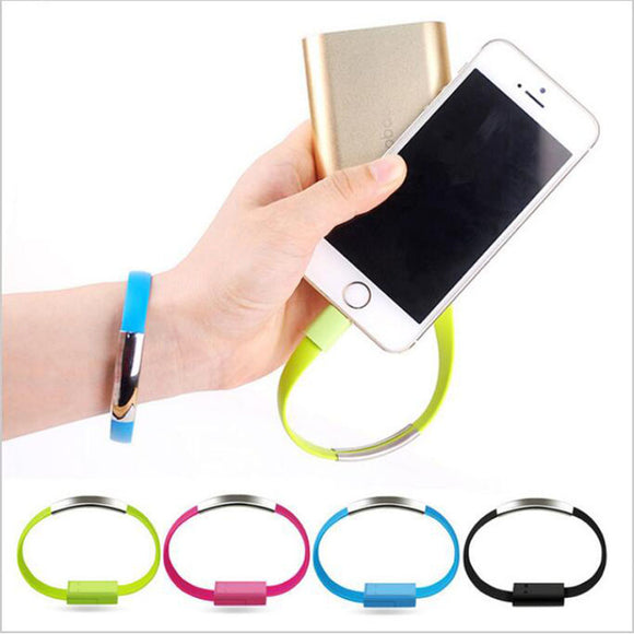 Bracelet USB chargeur compatible iPhone, iPad et iPod - Branchement - Compatible Apple