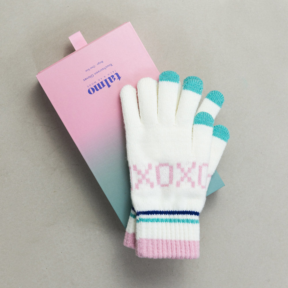Touchscreen gloves - beige XOXO