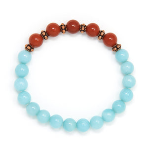 Amazonite Red Jasper Mala Bracelet, crystal healing jewelry