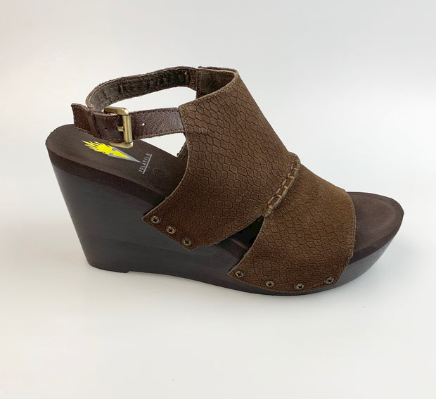 Volatile Women's Griselda Wedge Sandals Brown