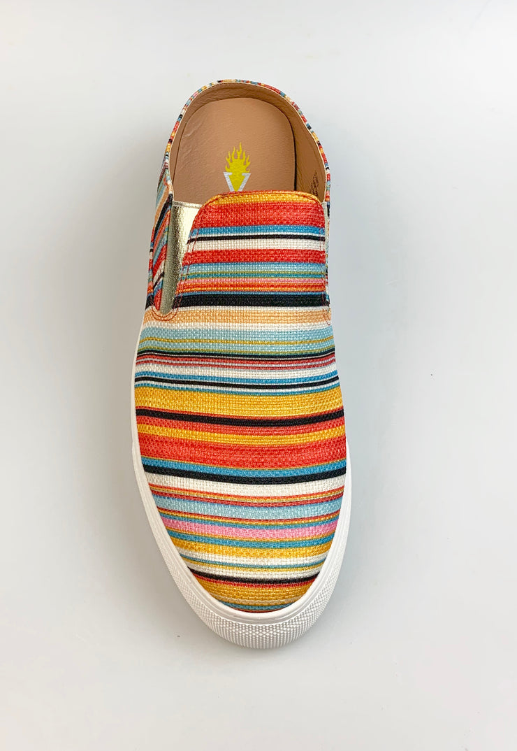 Volatile Women's Ximena Striped Slip On Sneakers Spring Serape