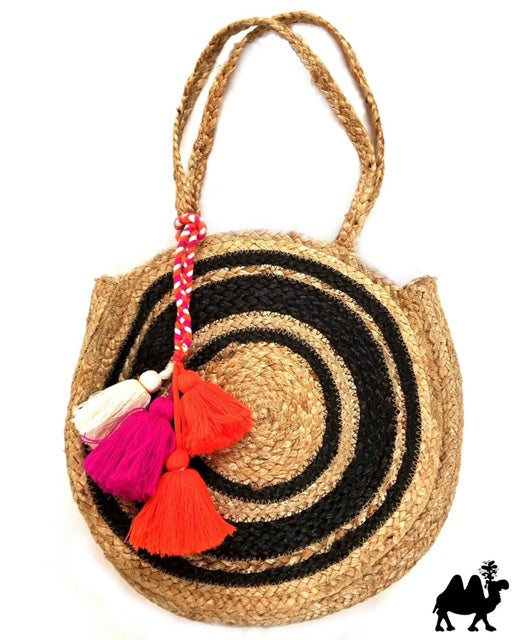 The Cabana Round Tote Bag