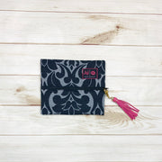 Makeup Junkie Zipper Makeup Bag Black Velvet