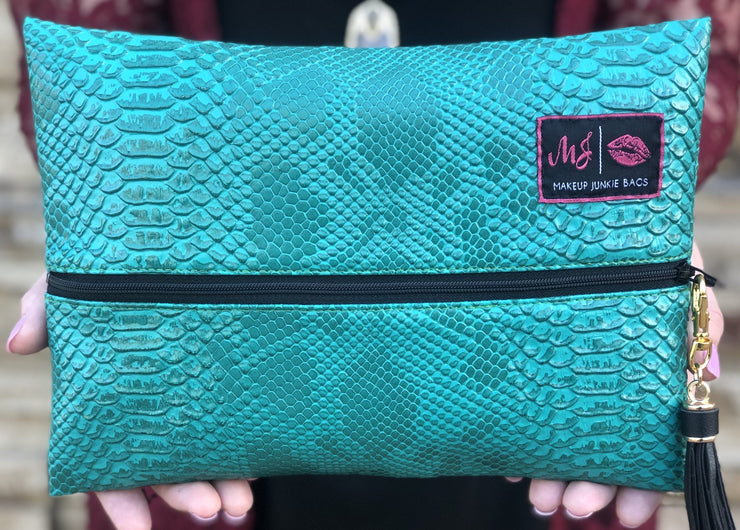 Makeup Junkie Zipper Makeup Bag Mini Turquoise