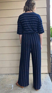 Amalli Talli Vernon Striped Jumpsuit Alli Long Length
