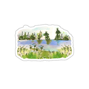 LAKE SETTING CAMP CAR STICKER