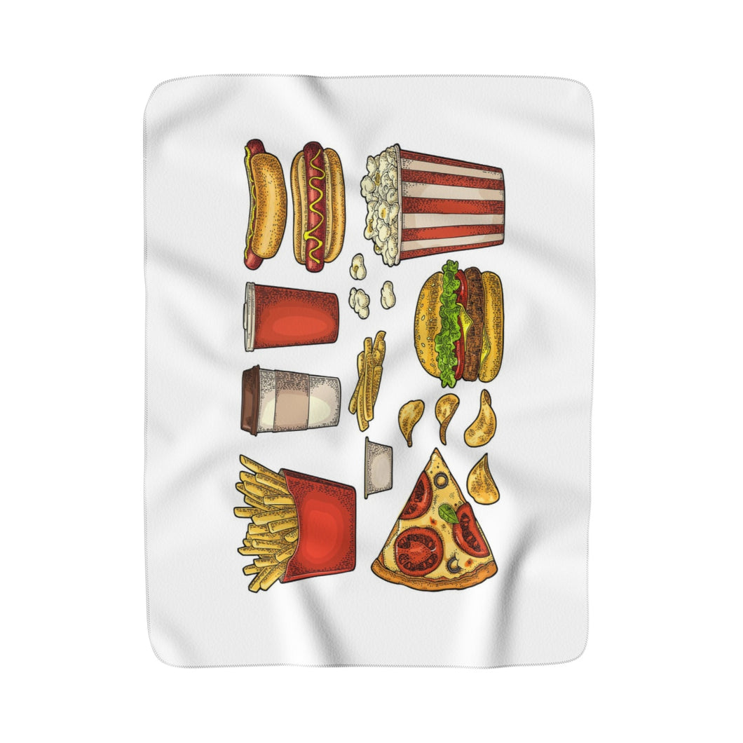 Fast Food Fleece Sherpa Movie Blanket